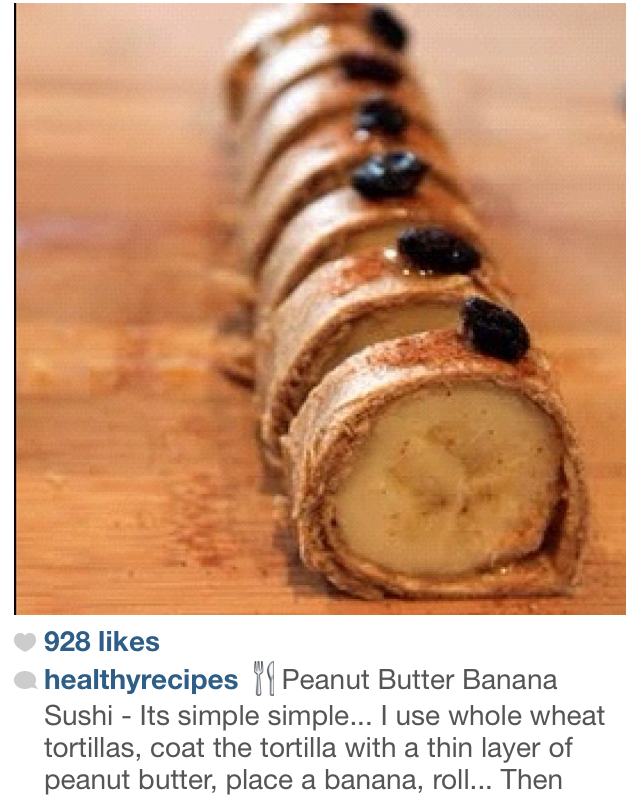 banana and peanut butter... weirdly the best combo