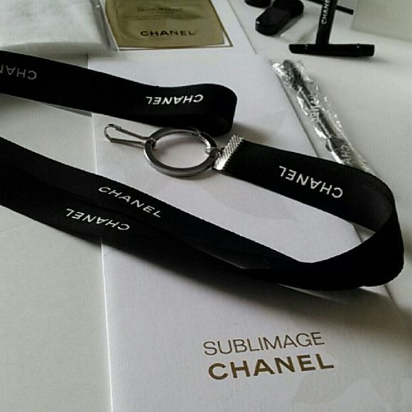 fa9262320ee Authentic Ribbon Lanyard Authentic CHANEL Ribbon Lanyard HANDMADE TO ORDER!  Silver Hardware