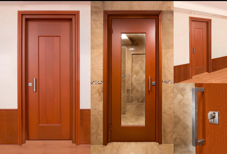 Puerta batiente multi dise os doble vista catalogo - Tipos de madera para puertas ...
