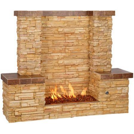 Bull Outdoor Rivera Firewall Outdoor Gas Fireplace