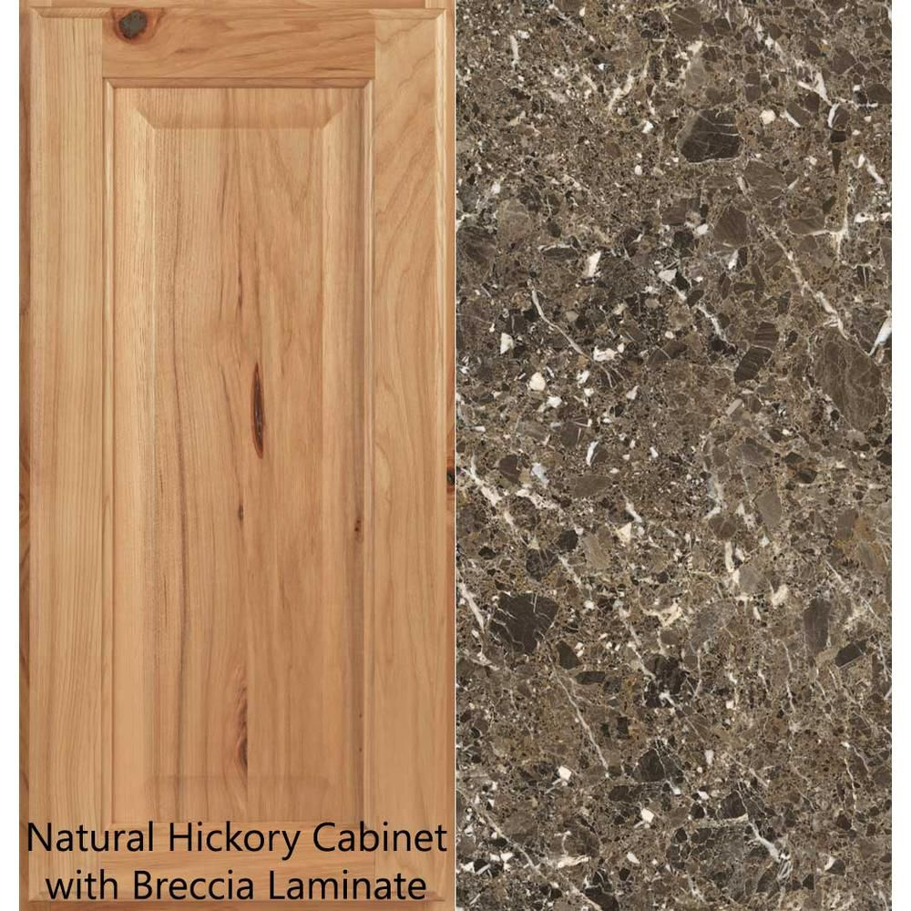Hampton Bay 4 Ft Laminate Countertop Kit In Breccia With Premium