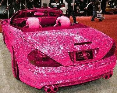 If u luv pink, I mean REALLY luv pink & sparkles, this car is 4 u!