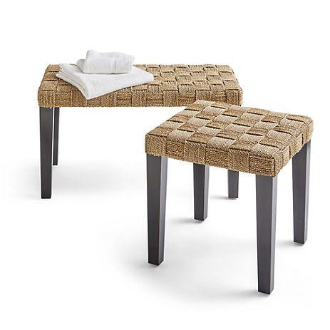 Charming Breydon Seagrass Bench U0026 Stool Design