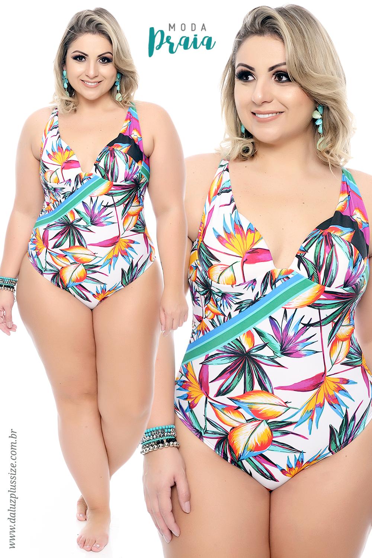 198c58776 Moda Praia Plus Size - Coleção Alto Verão 2018 - www.daluzplussize.com.br