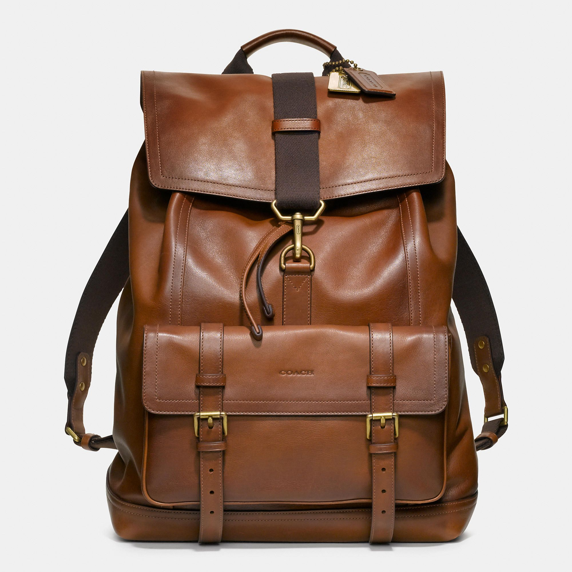 Bleecker Backpack In Leather Leather Backpack Man Bag Leather Men
