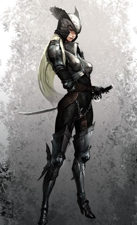 Sekigan Female Wing Knight Rpg Character Inspirations