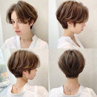 ショート ハイライト フェミニン デート×『send by HAIR』×ショートヘア美容師 #ナカイ