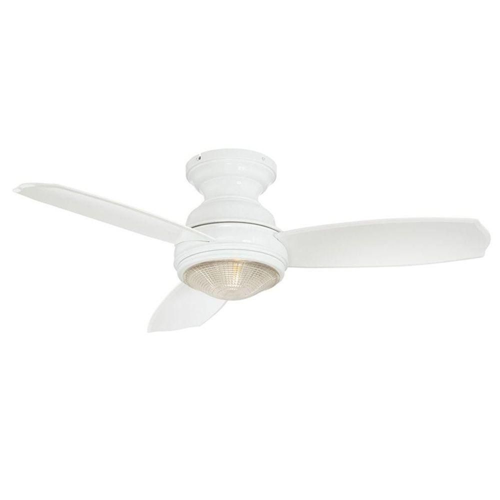 Hampton Bay Light Flashing: Hampton Bay Sovana 44 In. Indoor White Ceiling Fan With