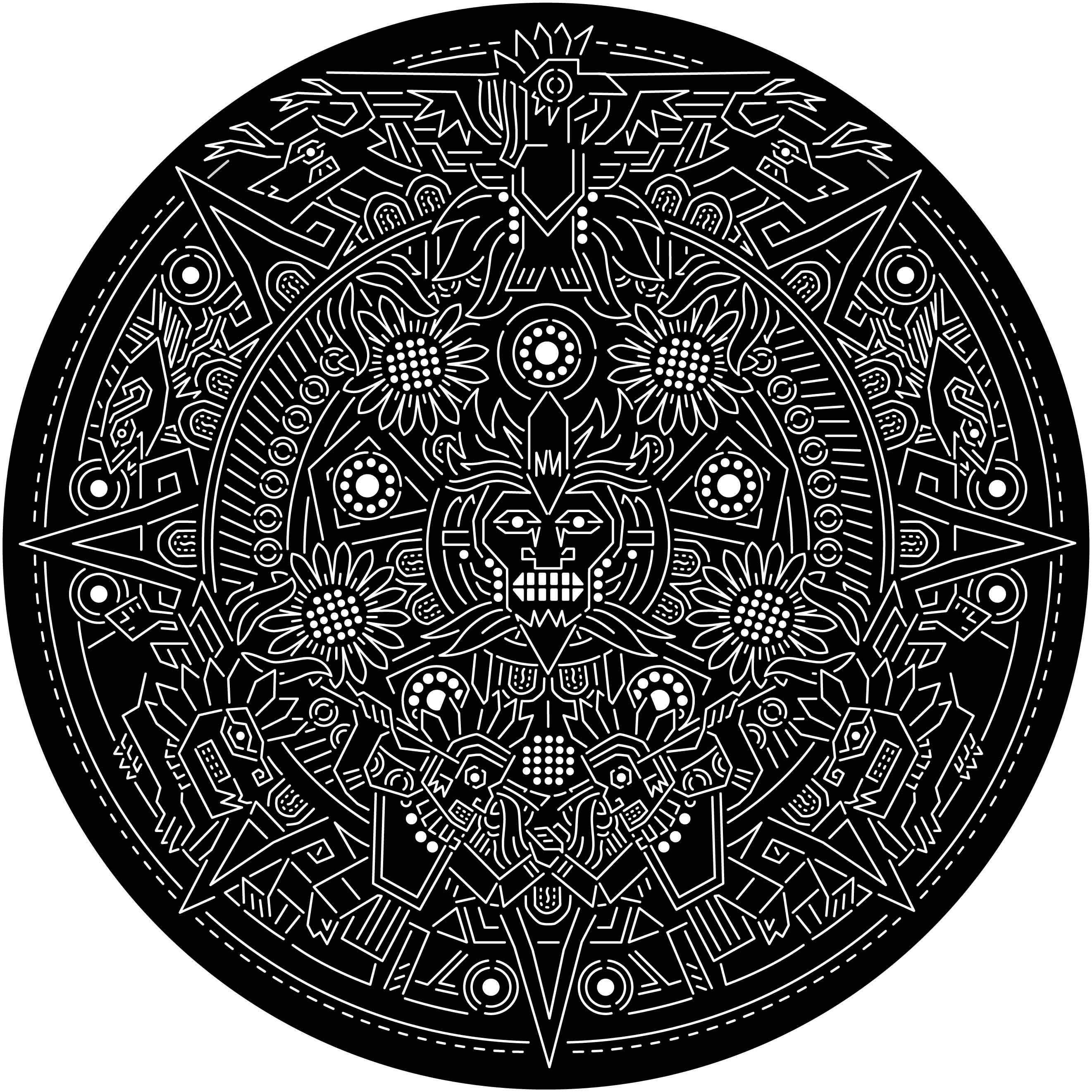 Aztec Calendar Aztec Calendar Mayan Art Aztec