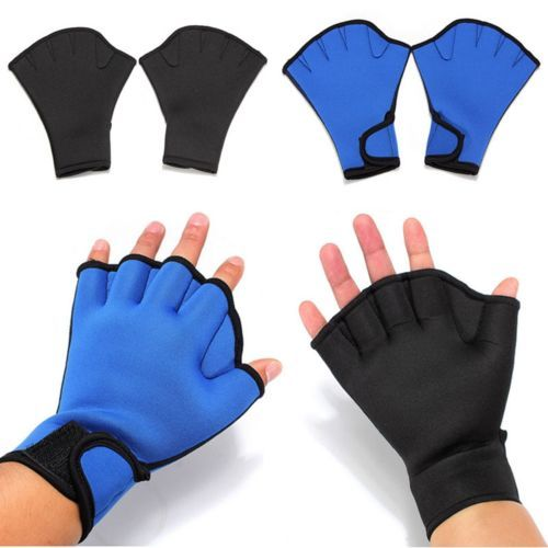 Aqua Frog Training Swimming Surfing Aid Fingerless Gloves Swim Webbed Gloves