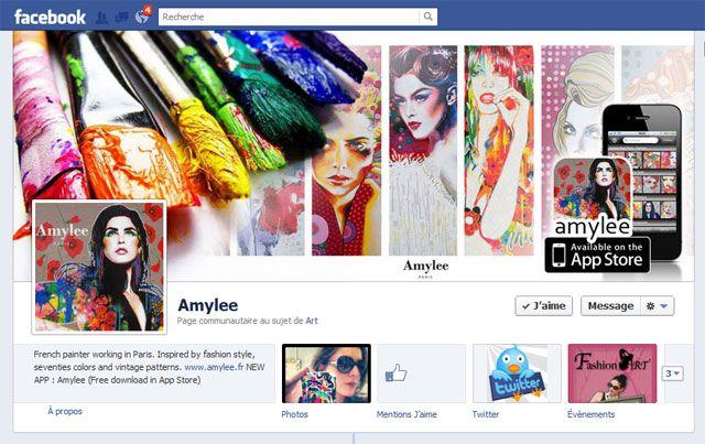 page fan facebook amylee artygirl art design