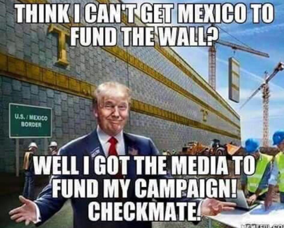 Funny Trump Wall Meme : Haha mexico ain t paying for your wall so now his voter s will
