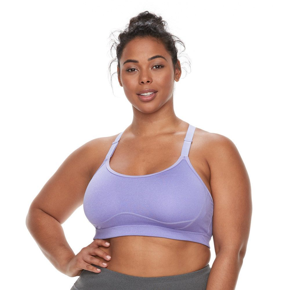 8255761745 Plus Size Tek Gear® Medium Impact Adjustable Front Strap Bra ...