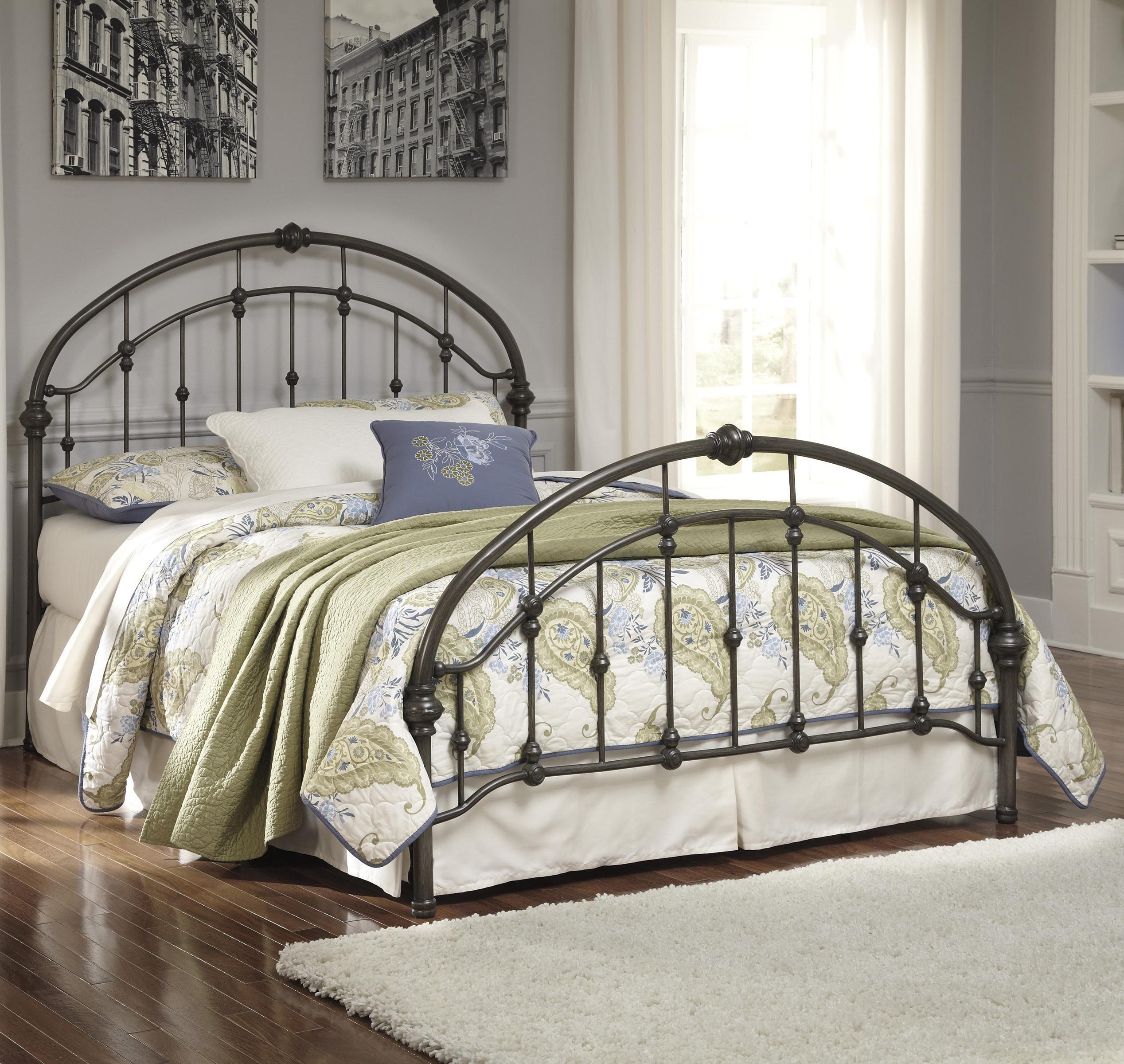 Nashburg King Metal Bedsignature Designashley  Beds New Signature Design Bedroom Furniture Inspiration Design
