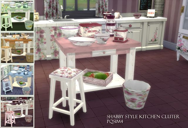 Sims 4 CC's - The Best: Shabby Style Kitchen Clutter by pqsim4