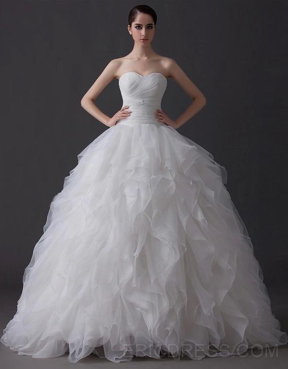 Elegant Ball Gown Sweetheart Tiered Floor Length Charming Wedding Dress Wedding Dresses 2014- ericdress.com 10960575