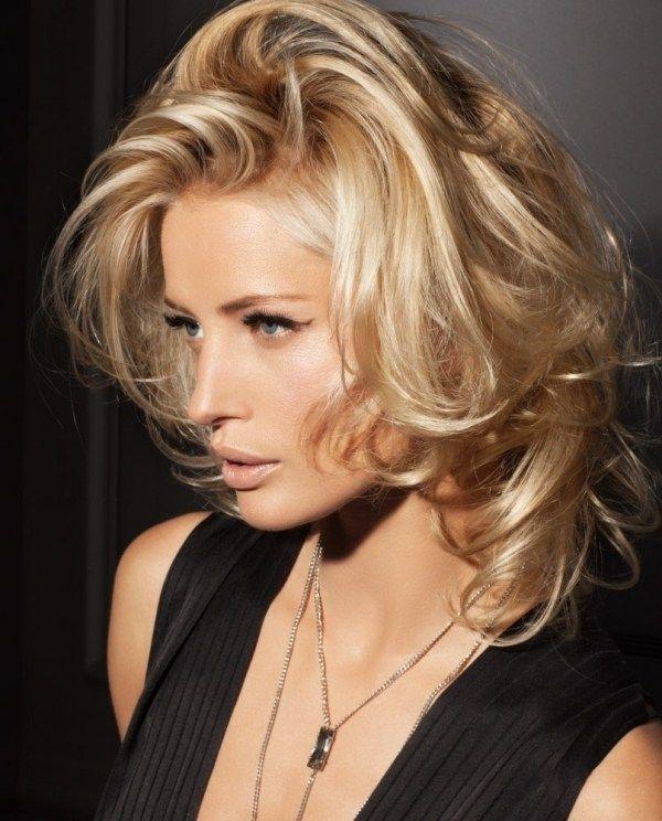Frisuren blond lang strahnen