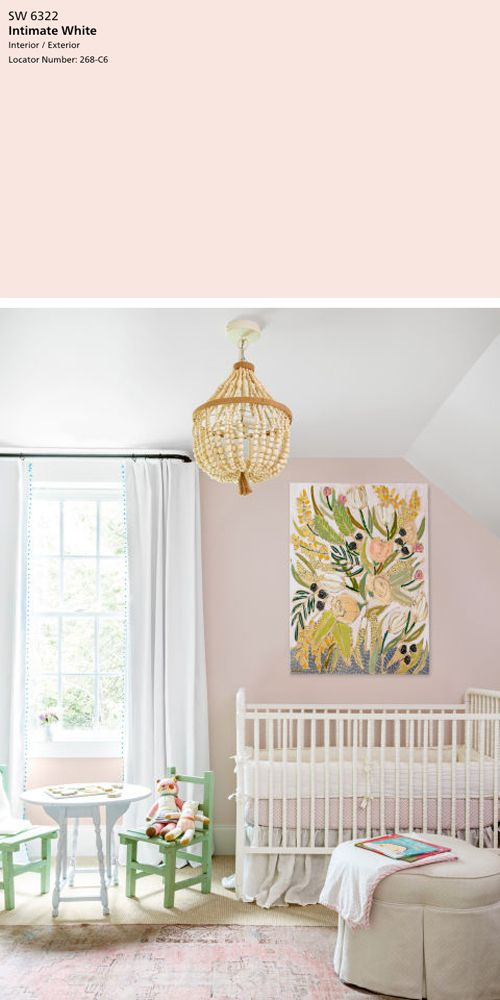 Click Through To See Julia From Tagandtibby Pick Her Five Favorite Pink Paint Colors Including The Ever Elegant Intimate White Sw 6322
