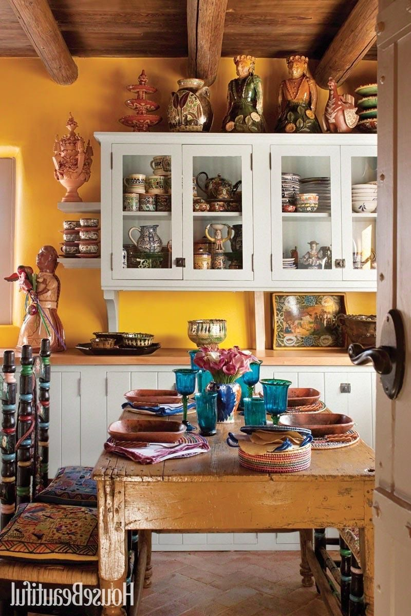 Colorful Kitchen Decorating With Mexican Style In 2020 Kitchen Design Small Small Kitchen Design Layout Simple Kitchen Design