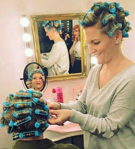 mom puts curlers in boys hair don t worry dad you re going to love being a pretty lady