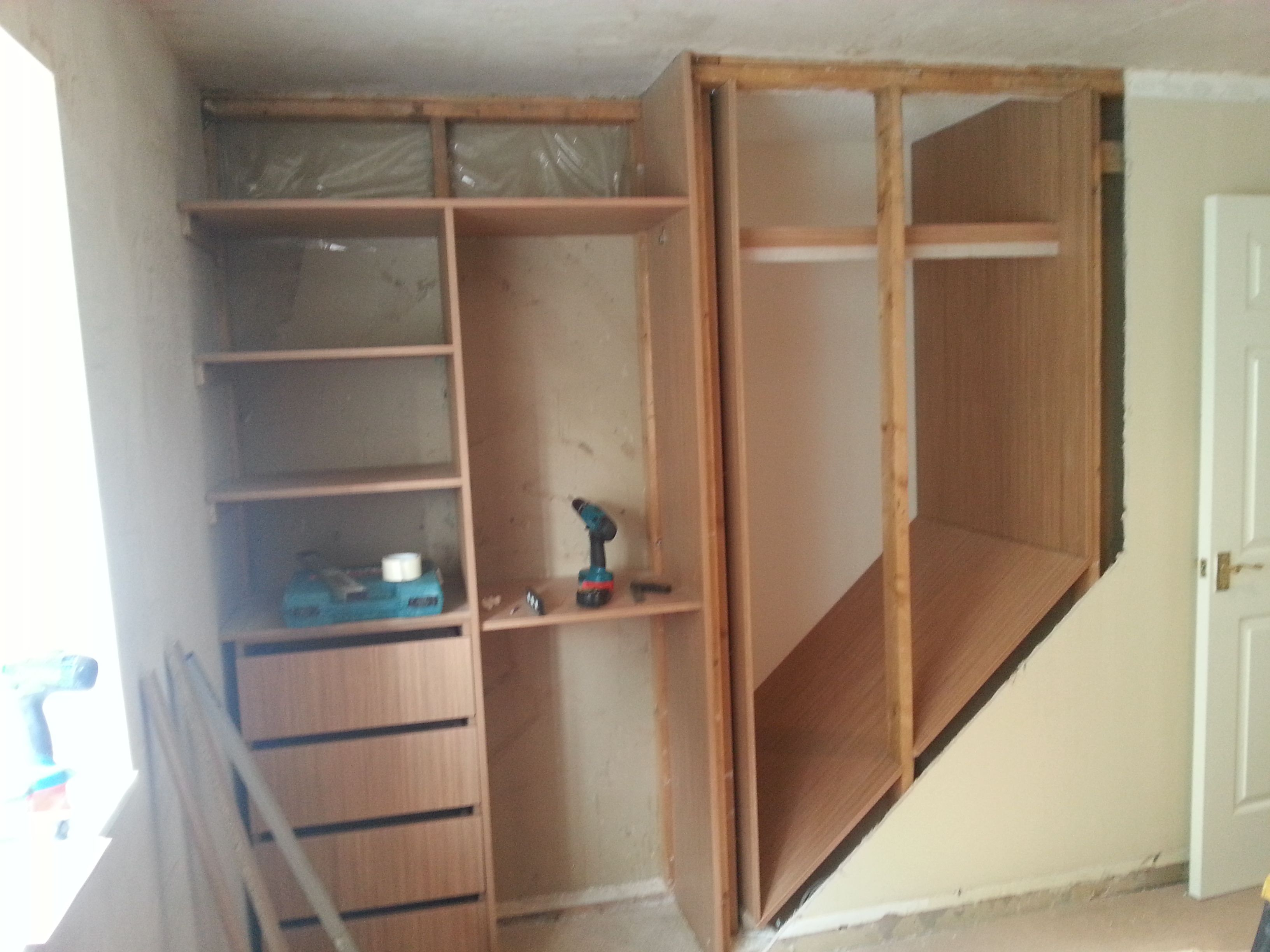 Box Room Wardrobe Using The Space Above The Staircase For A Custom Closet Home
