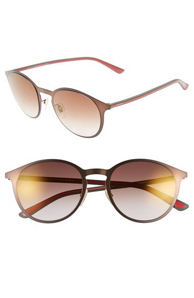 9551e5cc102 Gucci 52mm Retro Sunglasses available at  Nordstrom
