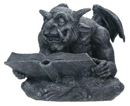 Devilish Gargoyle Reading a Book Statue Pinterest