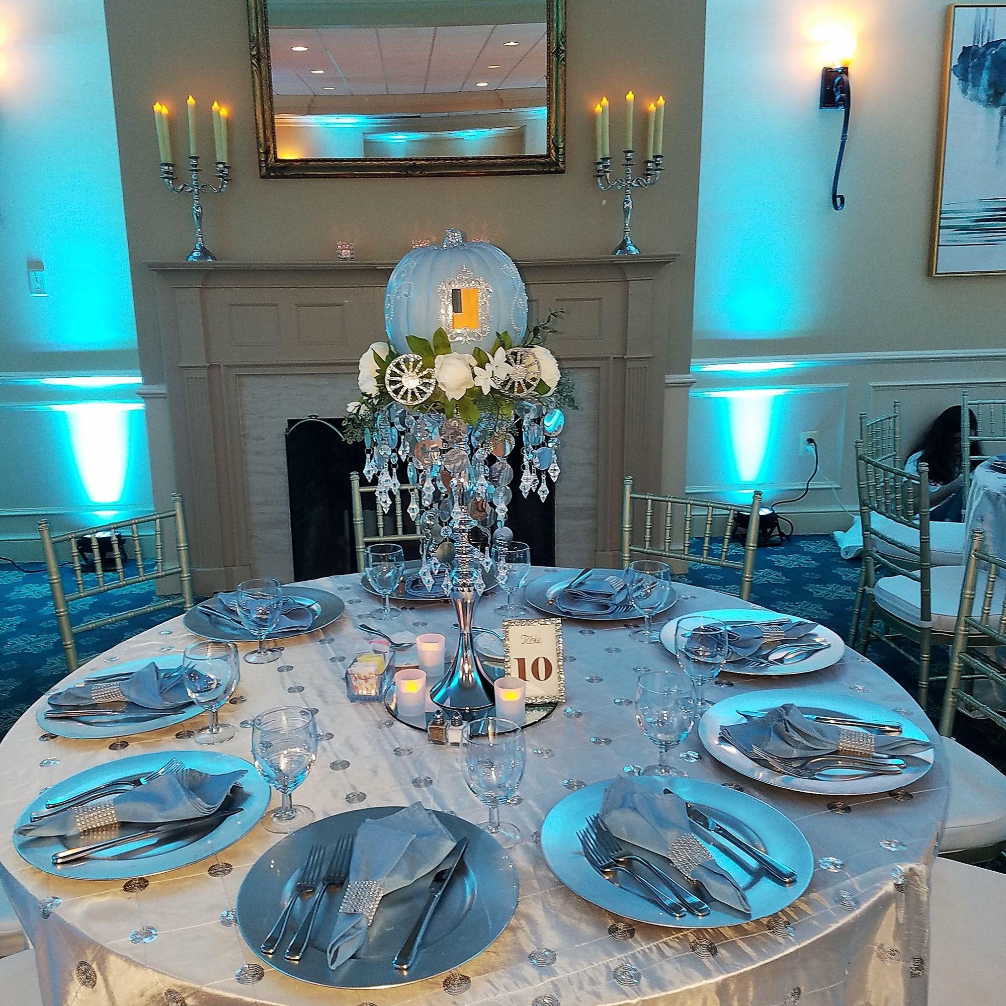 Cinderella Wedding Theme Ideas: Centerpiece For Quinceañera With Cinderella Theme