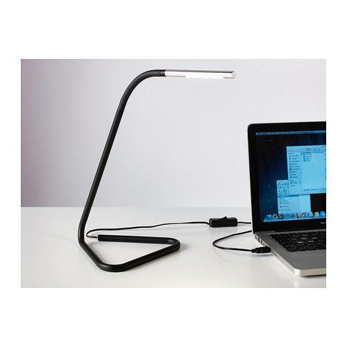 Harte Lampe De Bureau A Led Noir Couleur Argent Lampe De Travail Ikea Lamp