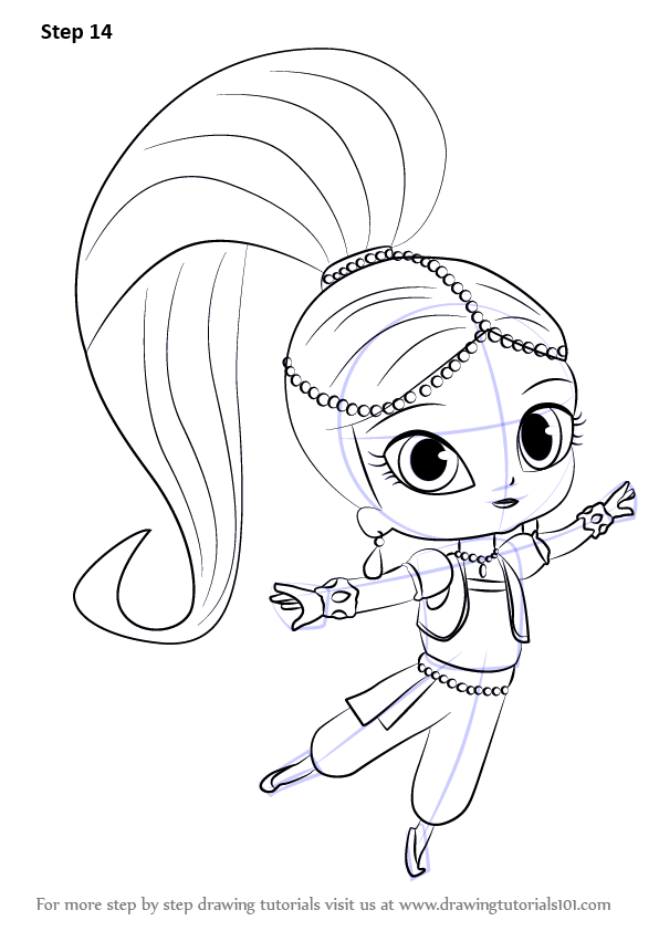 Learn How to Draw Shimmer from Shimmer and Shine (Shimmer