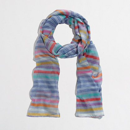 Factory lightweight long printed scarf