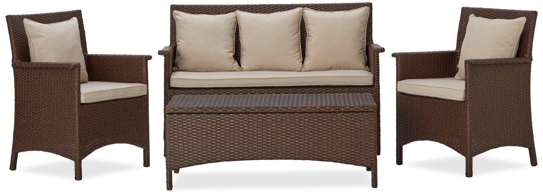 Amazon.com : Strathwood All Weather Wicker 4 Piece Furniture Set : Patio,  Lawn U0026 Garden
