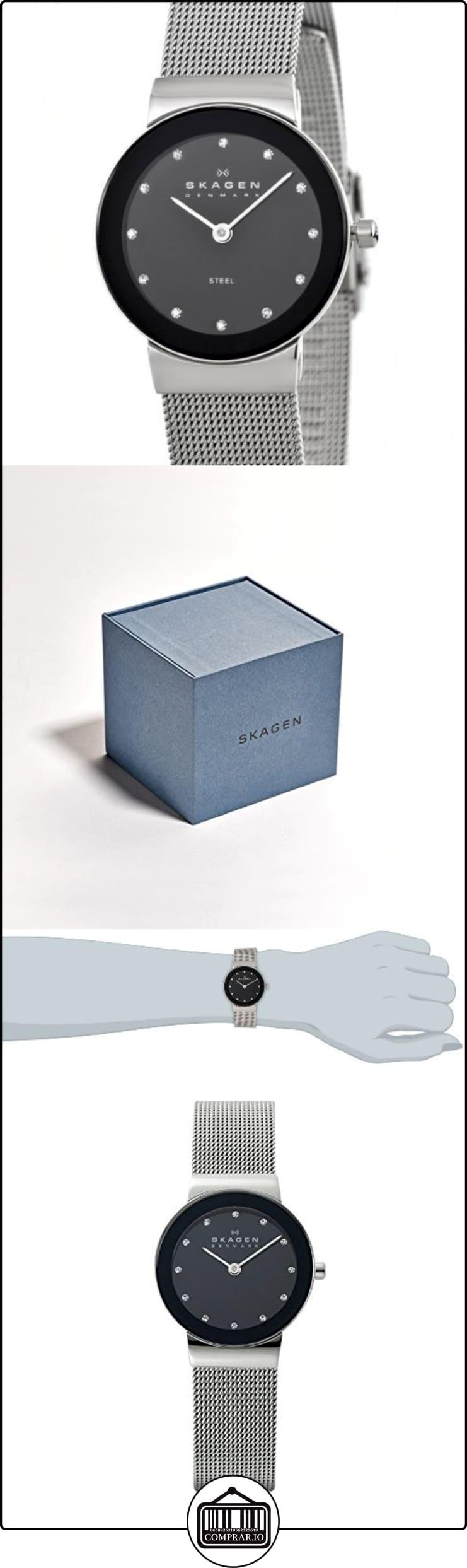 Skagen  0 - Reloj de cuarzo para mujer, con correa de acero inoxidable, color plateado  ✿ Relojes para mujer - (Gama media/alta) ✿