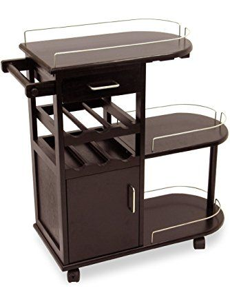 Winsome Wood Entertainment Cart, Espresso ❤ Winsome Trading, Inc.