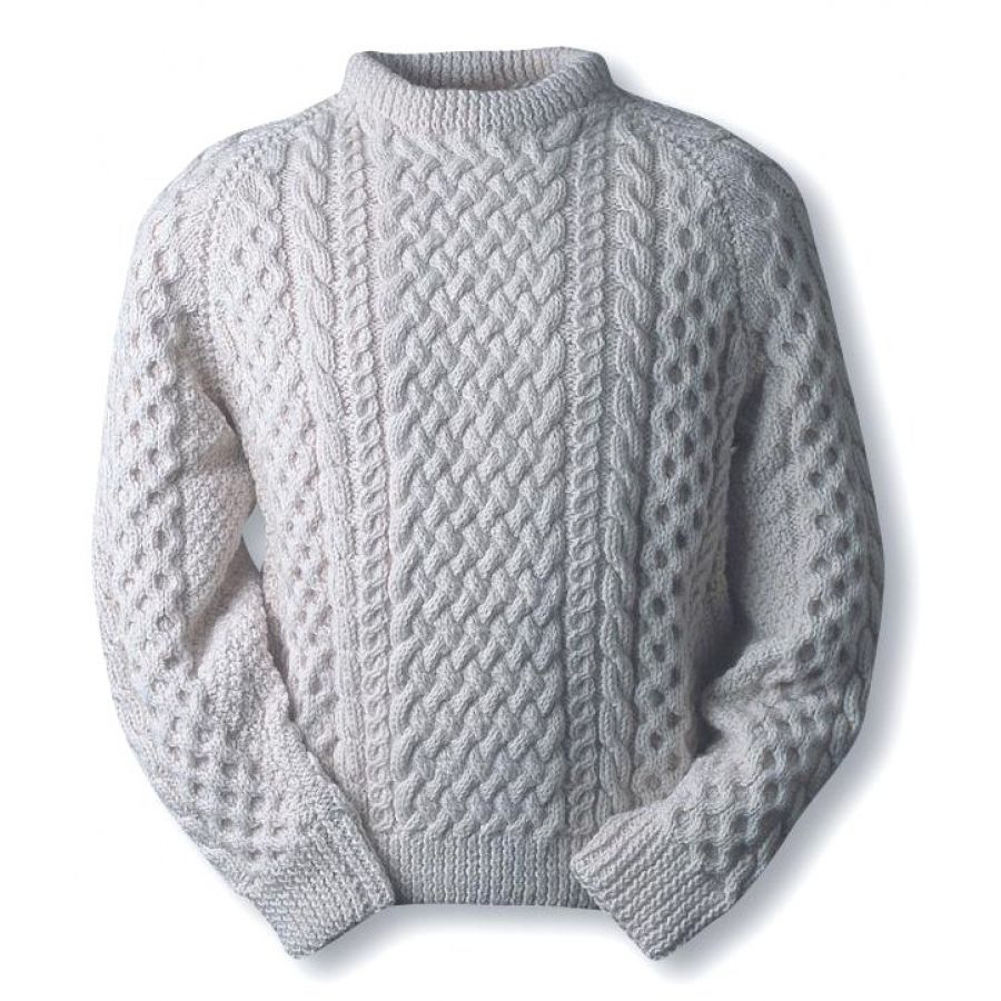 O\'Reilly clan pattern fisherman knit sweater | Cables knitting ...