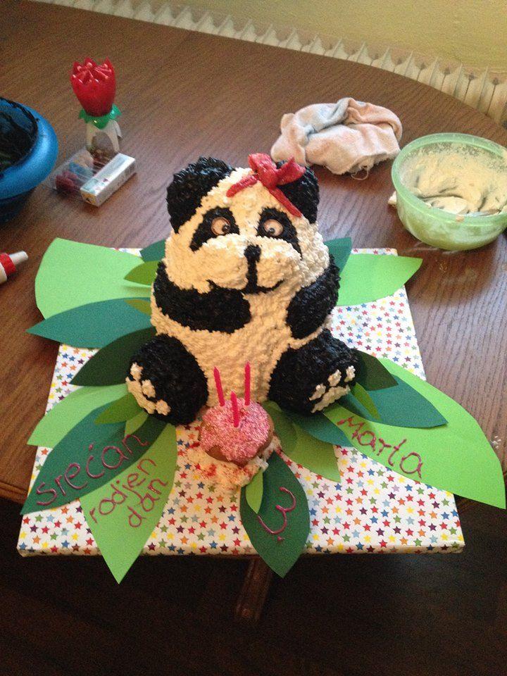 Panda- Geburtstagstorte