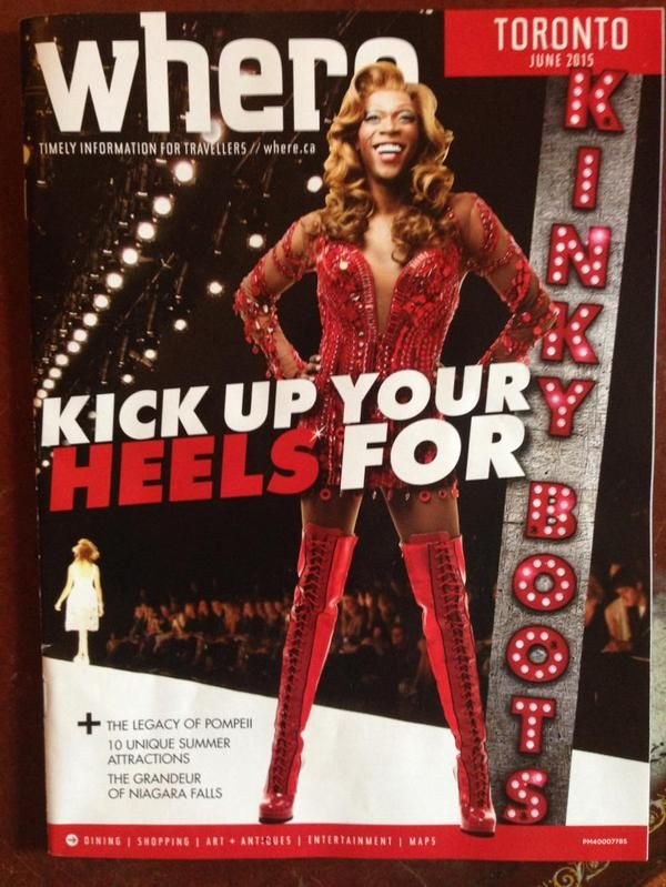 Our June issue, Art Directed by moi.   #kinkyboots #mirvish  via @JennyiAm