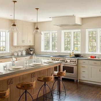 Pietra Cardosa Limestone Countertops Transitional Kitchen Benjamin Moore Brushed Aluminum