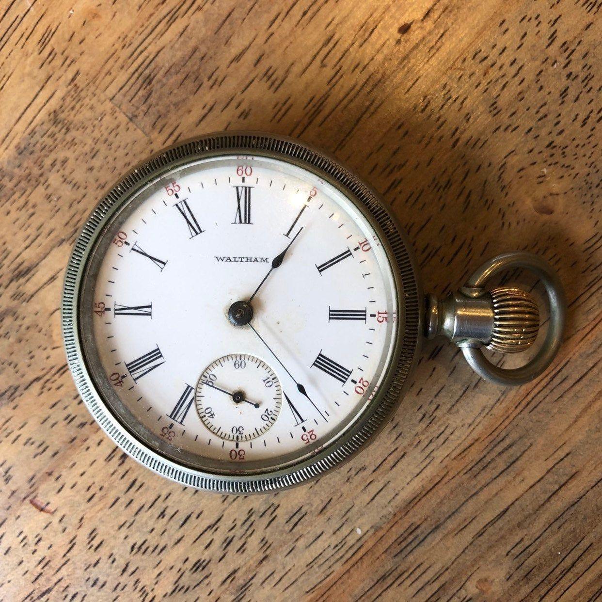 Vintage American Waltham pocket watch. Runs. Movement