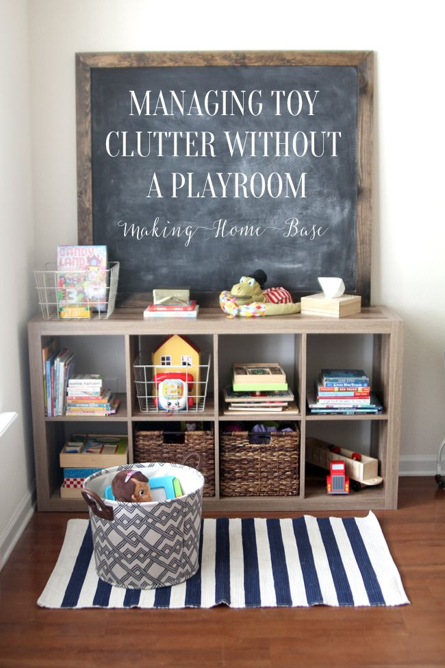 Living Room Toy Storage how to manage toy organization when you don't have a playroom