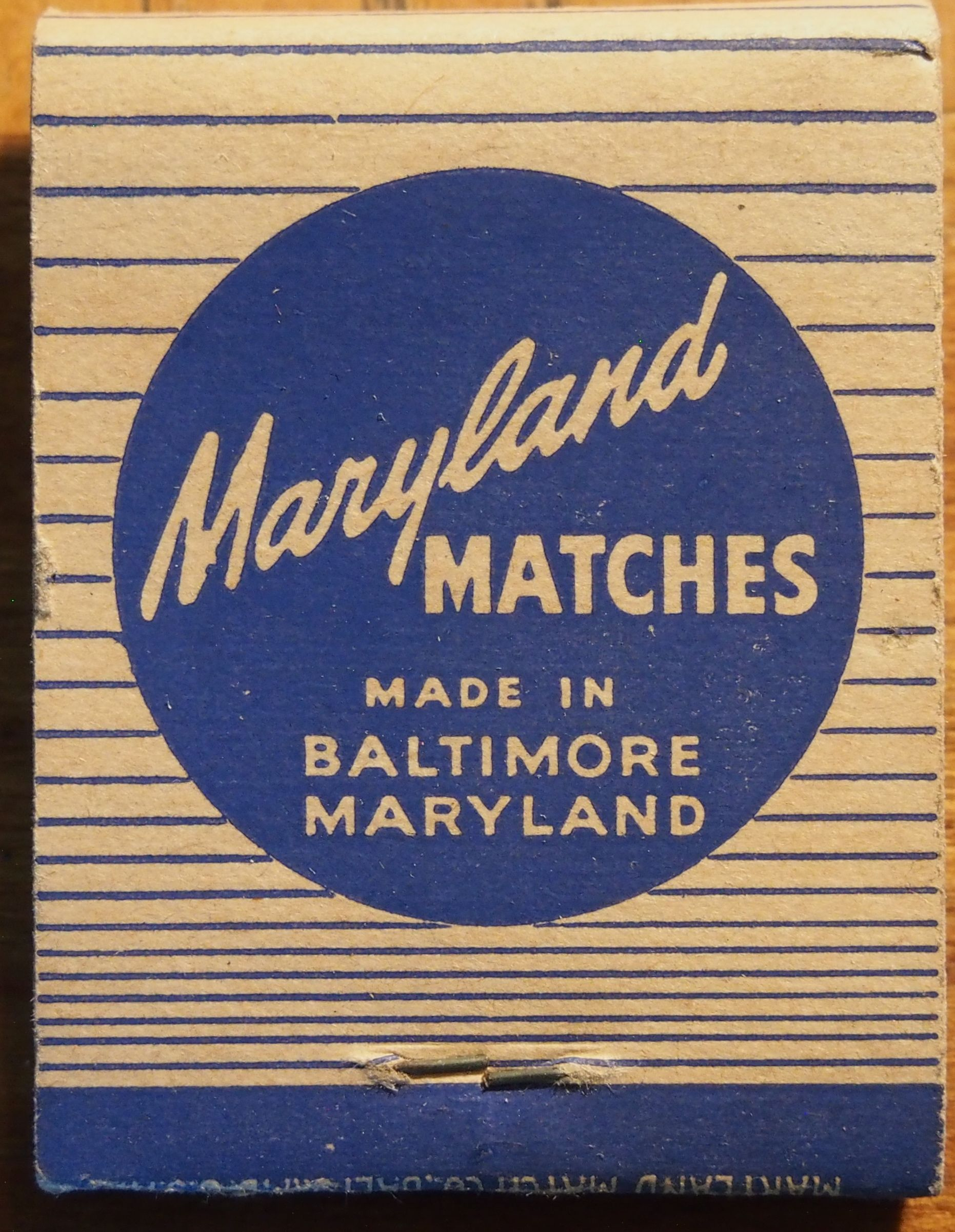 Maryland Matches frontstrike matchbook To order your