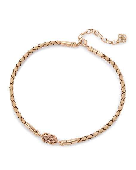 Seraphina Crystal Bib Necklace Black