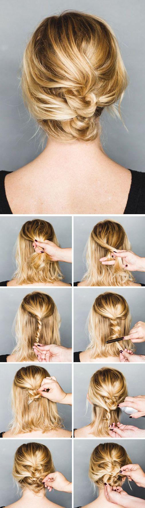 Pinterest boocute hairstyles pinterest updo messy updo