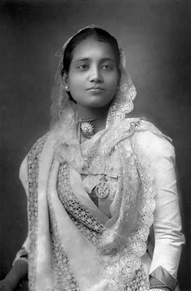The Maharani of Koch Bihar, West Bengal, India, 1893. From The Cabinet Portrait Gallery, fourth series, Cassell and Company Limited (London, Paris and Melbourne, 1893). (Photo by The Print Collector/Print Collector/Getty Images)