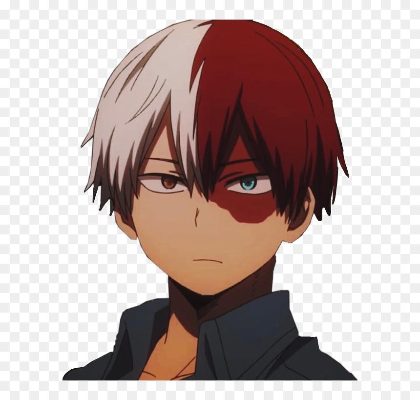 Shoto Todoroki Todorokishouto Anime Myheroacademiaedit My Hero Academia Todoroki Face Hd Png Download Cute Anime Character Anime Guys Kawaii Anime