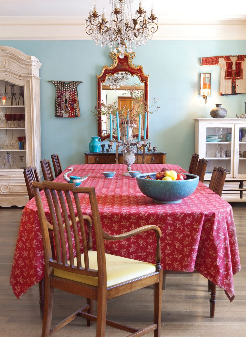 Thelmaredtablecloth dining together love pinterest red