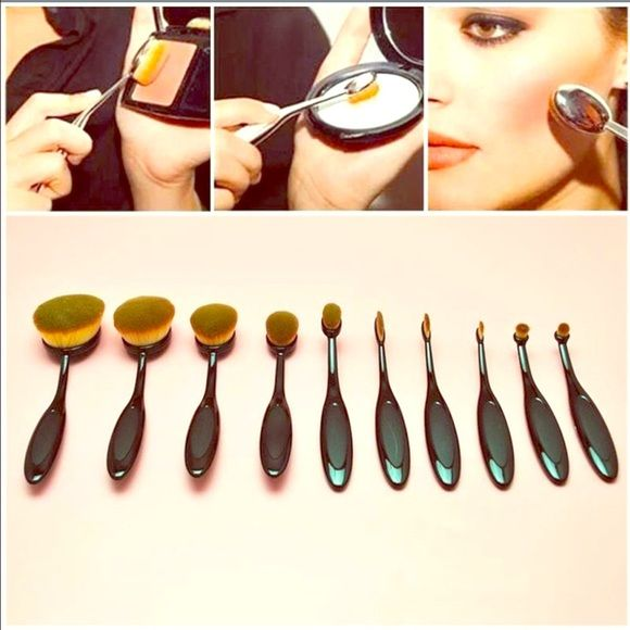 10 Face brushes Flash Sale New. Different sizes to make make up application simpler  Makeup Brushes & Tools