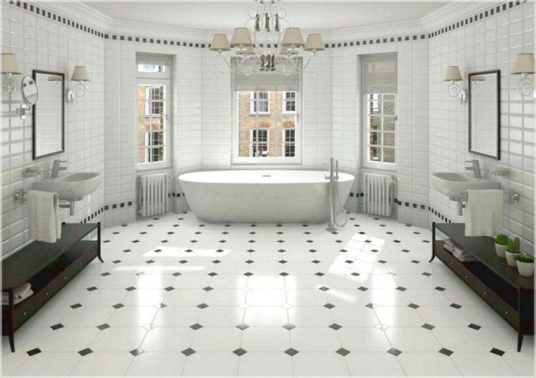 Carrelage salle de bain noir et blanc et meuble salle de bain noir - joint noir salle de bain