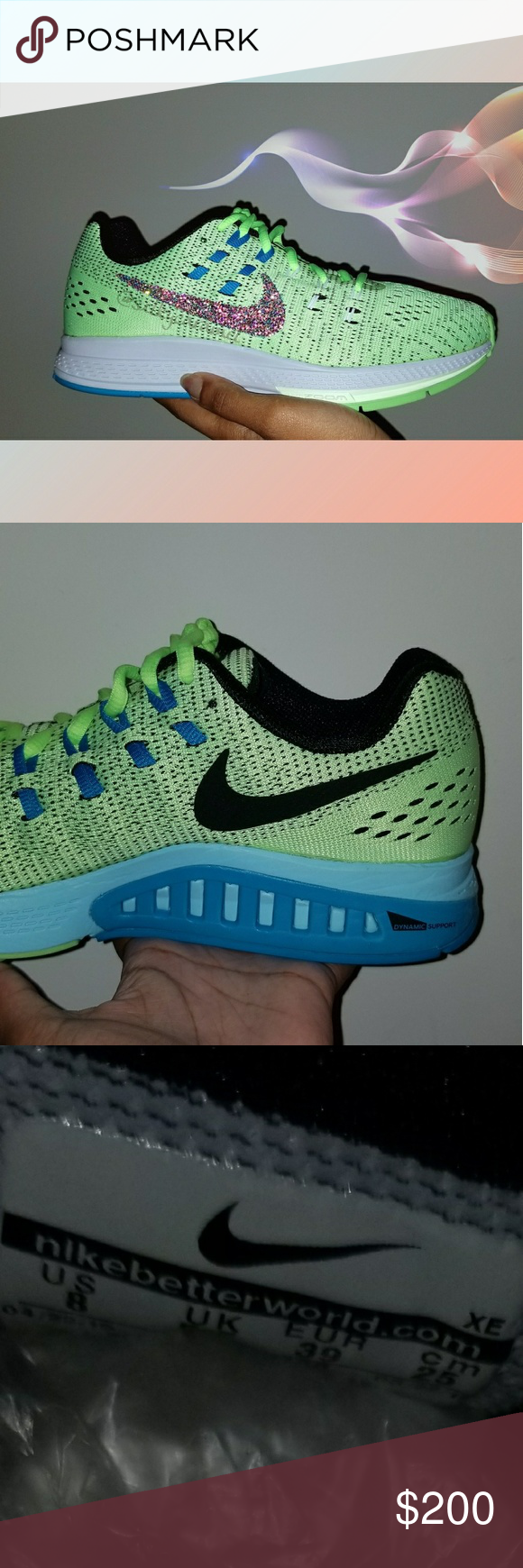 RHINESTONE NIKE RUNNING STABLE RIDE RESPONSIVE Shoes are