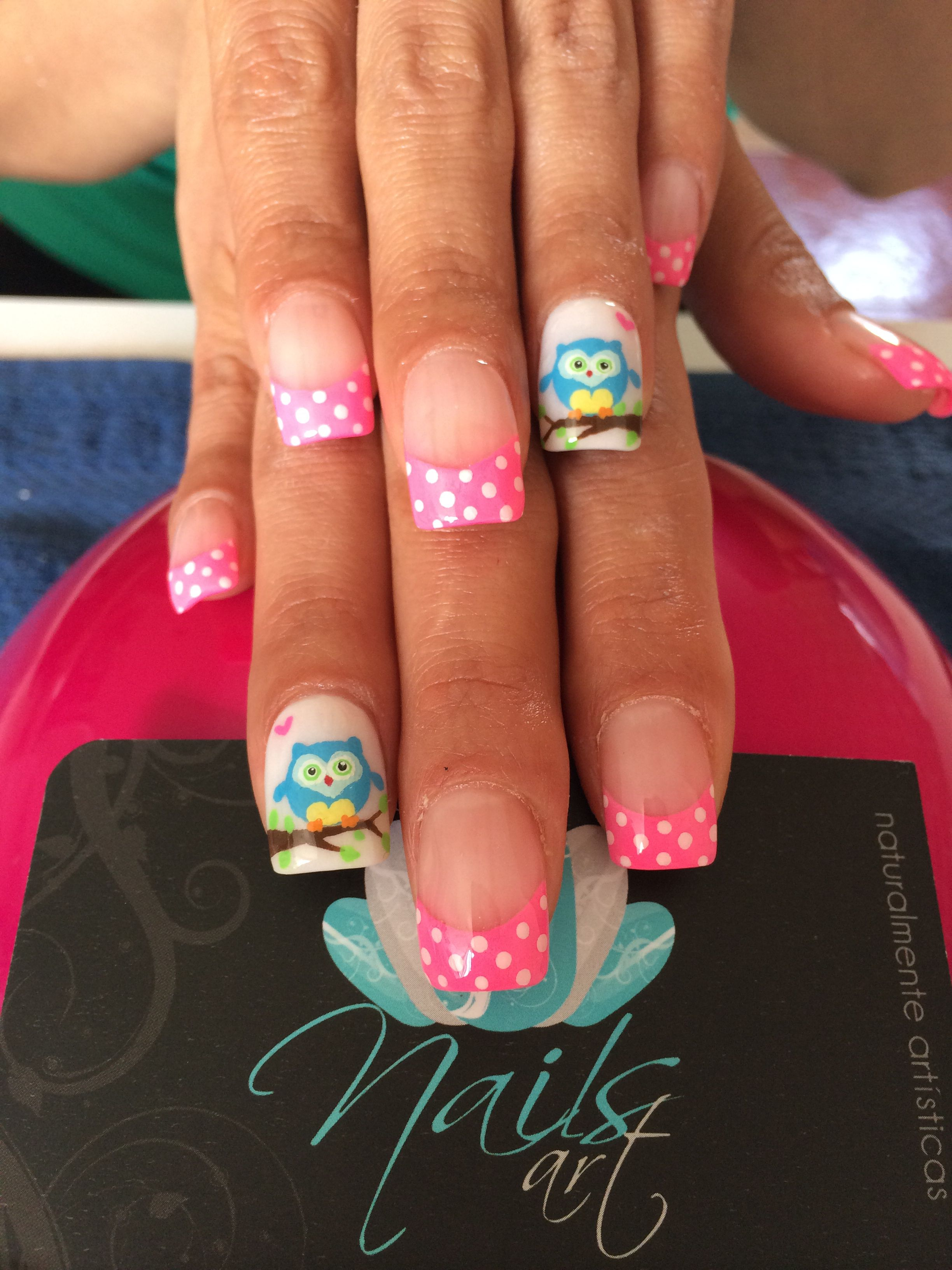 Nails art, acrylic nails, nails LunaRip~ Awww The owls Are Sooo ...
